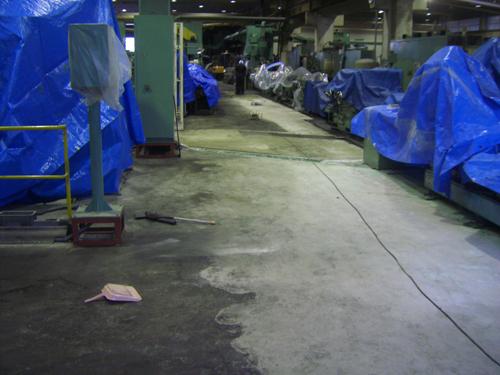 工場床 施工前