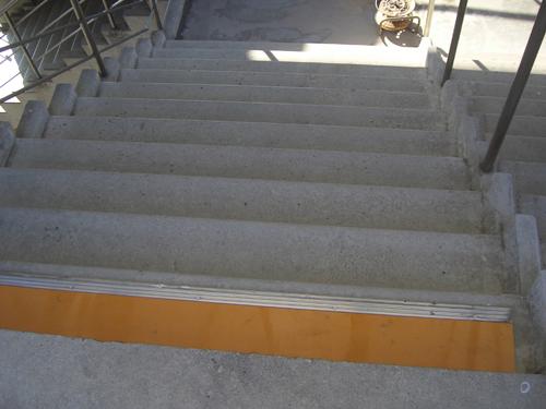 等々力スタジアム階段 施工前